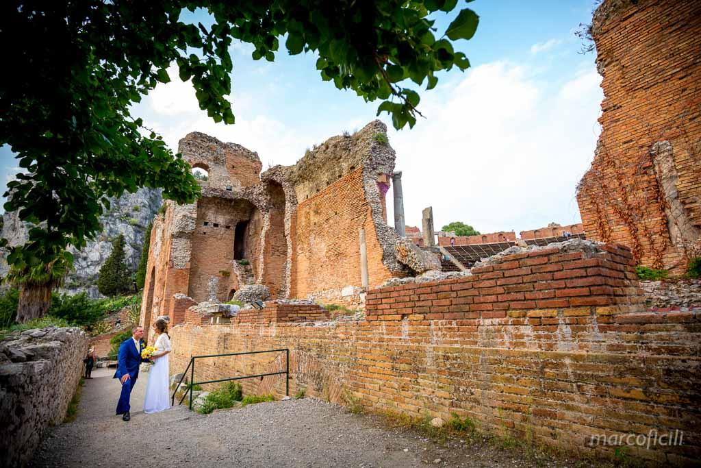 Foto matrimonio Teatro Greco Taormina, Sicilia