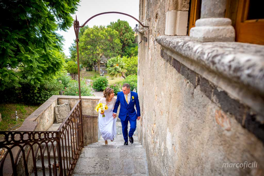 Wedding photos Palace of the Dukes of St. Stefano in Taormina, Sicily
