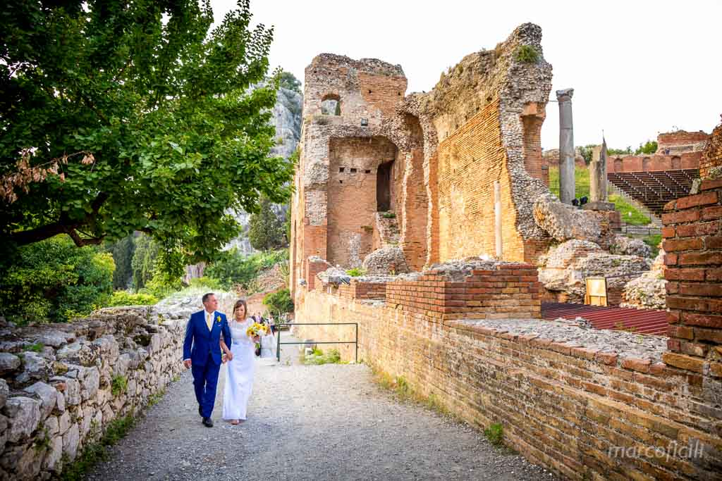 Wedding photos Greek Theatre Taormina
