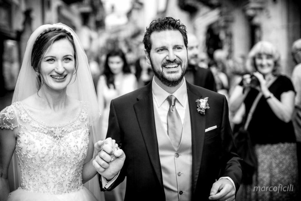 Taormina wedding couple Corso Umberto