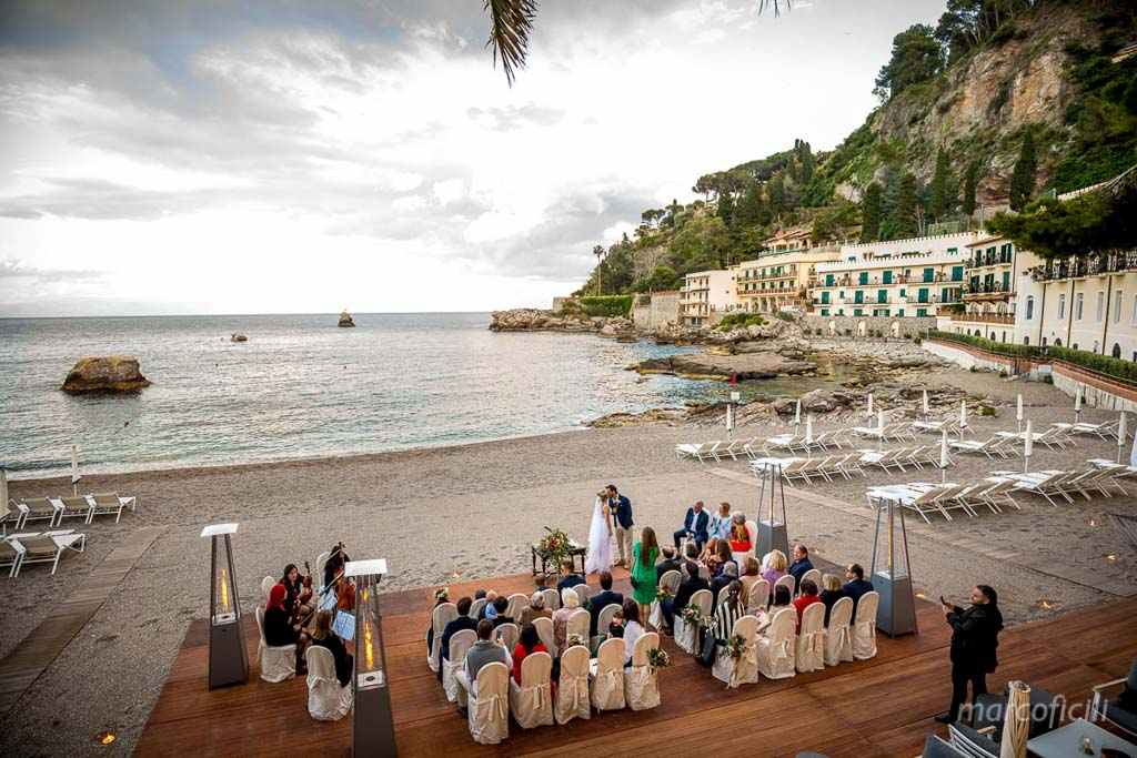 Beach Wedding Taormina Marco Ficili Wedding Photographer