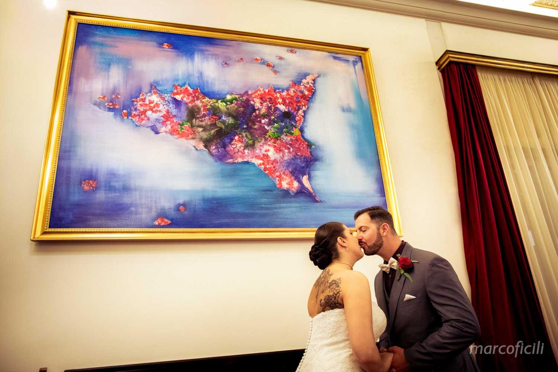 Fuga d'amore Taormina, Palazzo del Comune di Taormina,  matrimonio