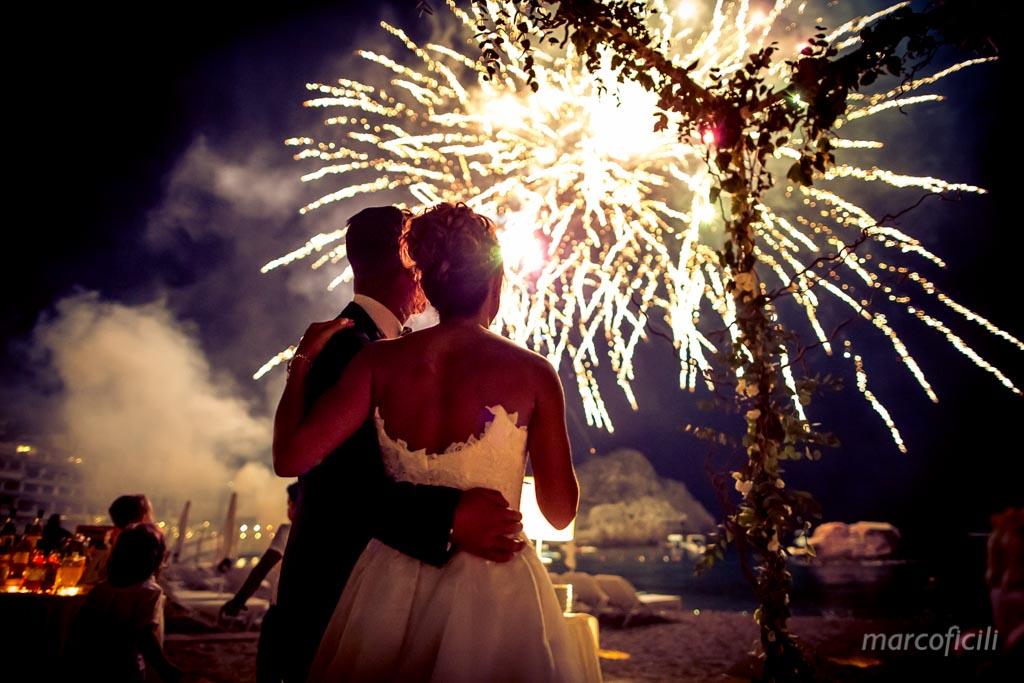 Matrimonio Fuochi d'artificio Taormina