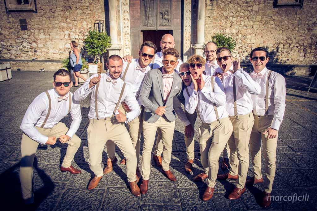 English Wedding Taormina _groom_bestman_ushers_selfie_taormina_sicily_vintage_hipster