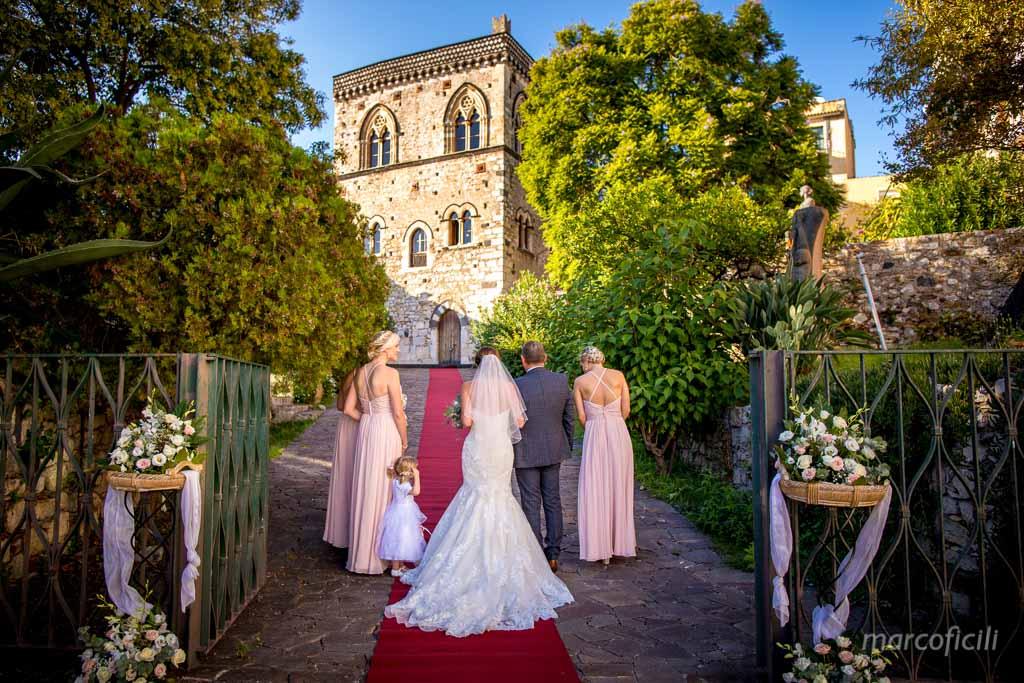 English Wedding Taormina _Dukes of St. Stefano _palace_bride