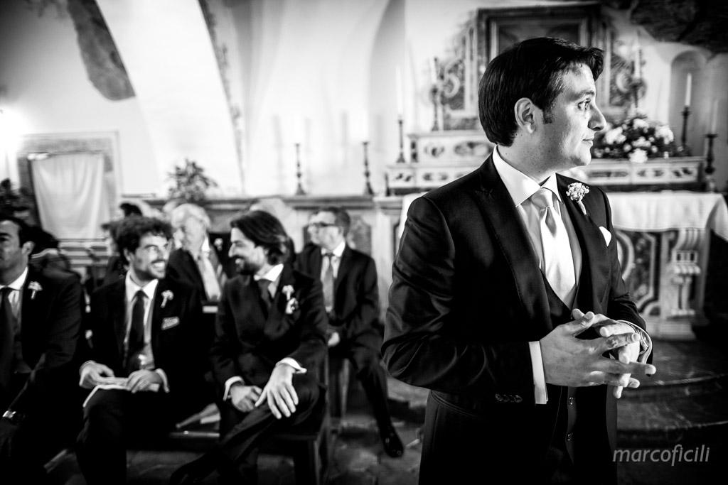 Wedding Madonna della Rocca Taormina, groom