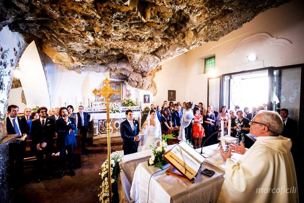 Wedding Madonna della Rocca Taormina, indoor, view, altar