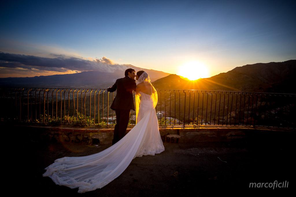 Wedding Madonna della Rocca Taormina, magnificent, sunset