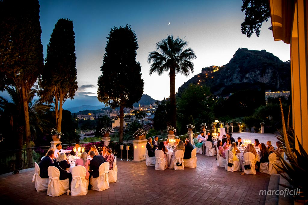 amazing, venue, taormina, night, dinner, terrace Afrodite, Belmond, timeo