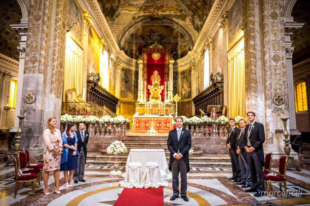 Destination Wedding Sicily, Acireale, groom, best man, bridal party, amazing church,