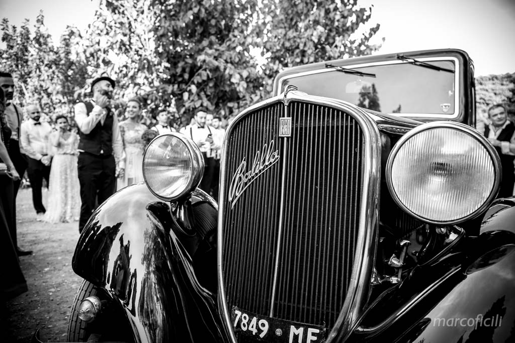 vintage car, balilla, wedding car, Sicily, Taormina