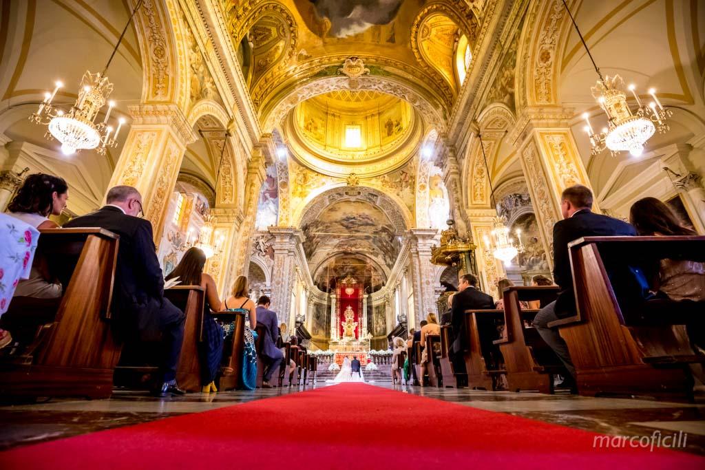 Duomo Acireale Matrimonio, interno, magnifico, tappeto, vista, interno, cupola, matrimonio elegante, sontuoso, principesco,