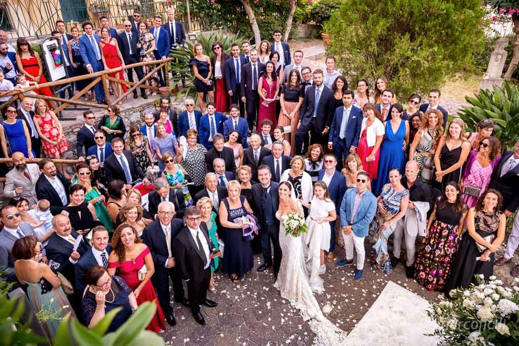 Lovely Italian Wedding Taormina, antique, Duchi di Santo Stefano, group, pictures, all guests