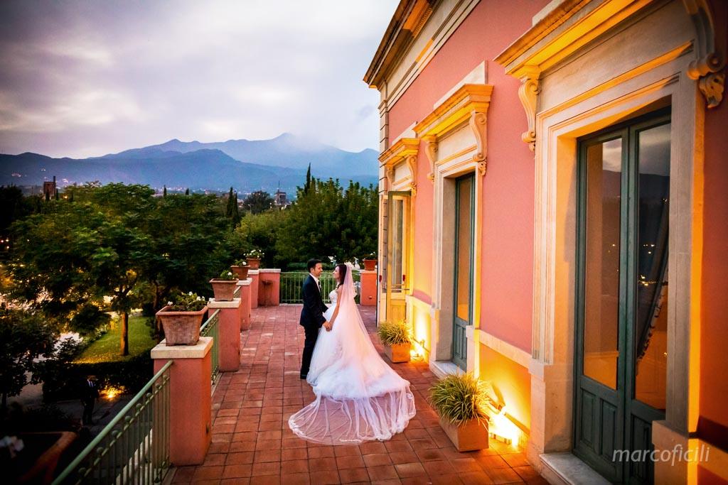 Giardini Villa Fago, terrazza, foto, sposi, matrimonio, Etna,