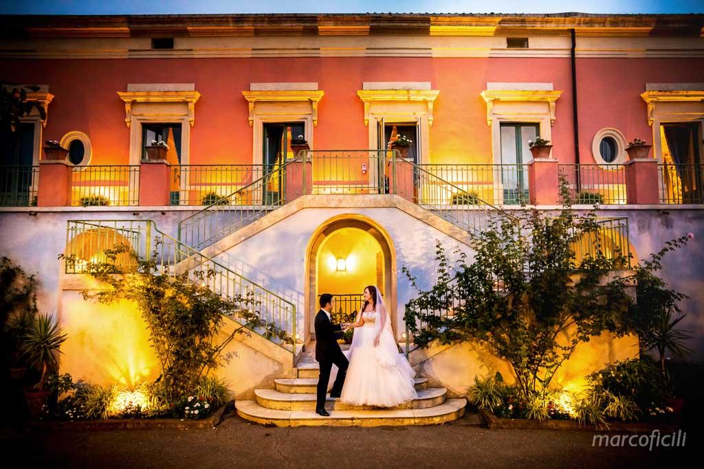 Giardini Villa Fago, terrazza, foto, sposi, matrimonio, Etna, fotografo,