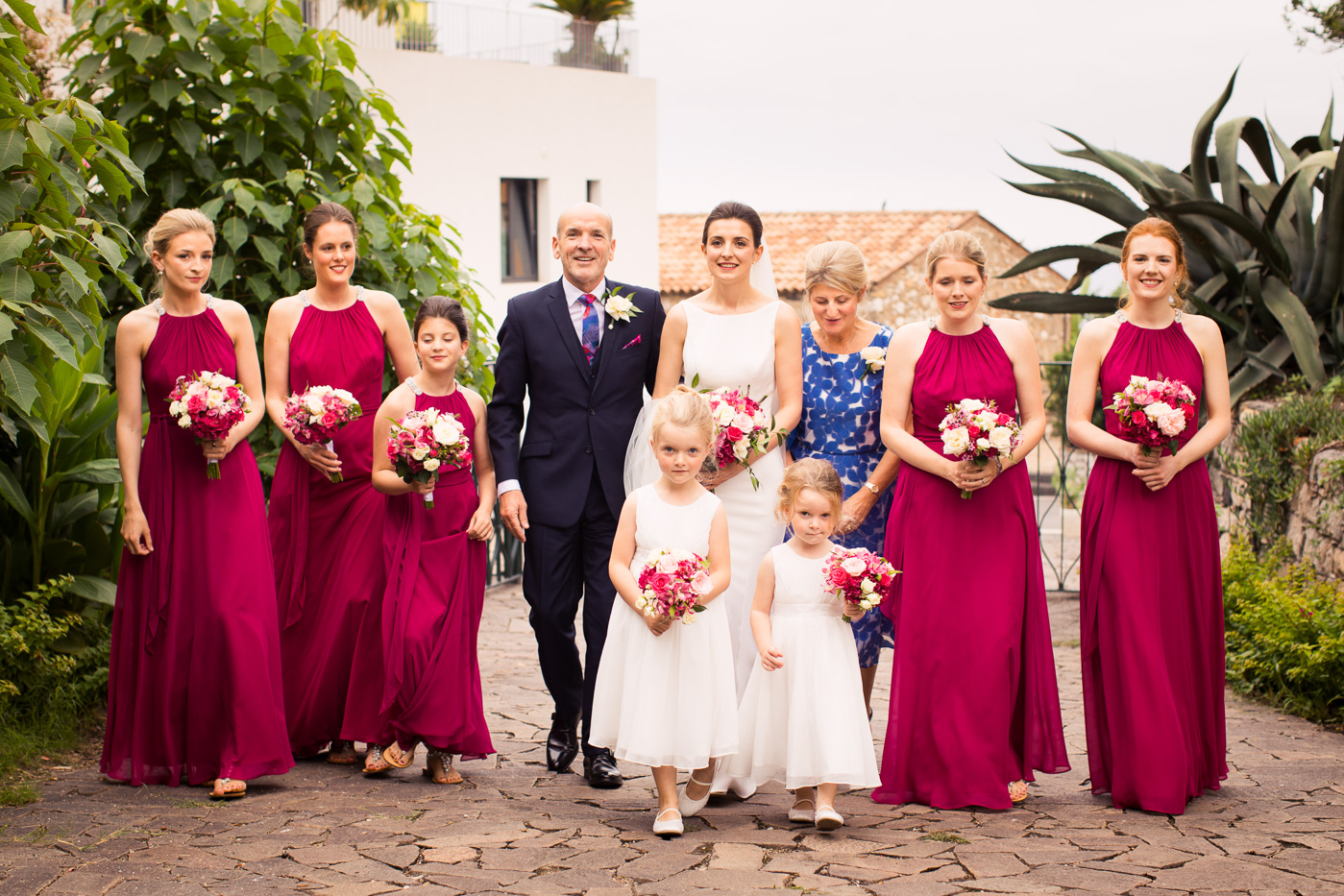 Lovely Wedding Taormina-bridal-party-bride-palazzp-duchi