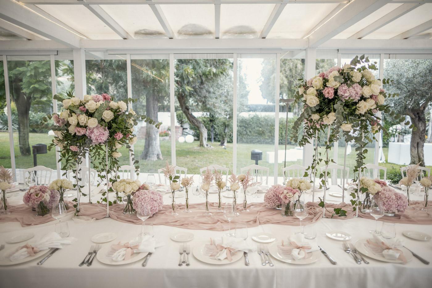 Decoro floreale, tavolo, sposi, cena, Matrimonio, Villa Mon Repos